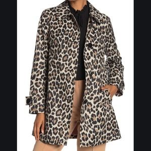 kate spade new york Leopard Print Trench Coat